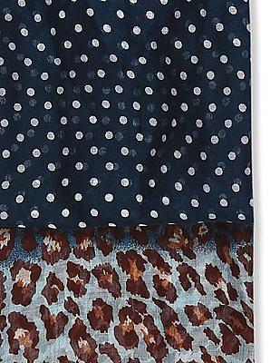 SUGR Blue Combination Print Stole