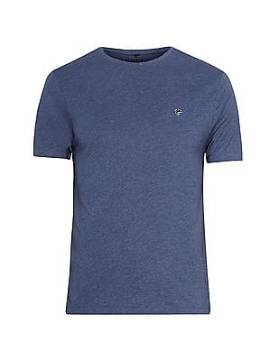 Ruggers Blue Slim Fit Heathered T-Shirt