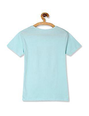 Cherokee Girls Round Neck Graphic T-Shirt