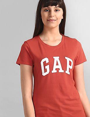 GAP Red Logo Short Sleeve Crewneck T-Shirt