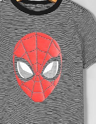 GAP Black Boys Marvel© Graphic Short Sleeve T-Shirt