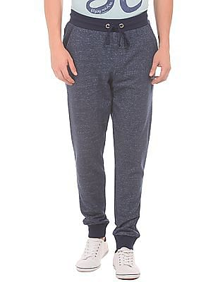 Flying Machine Heathered Drawstring Waist Joggers