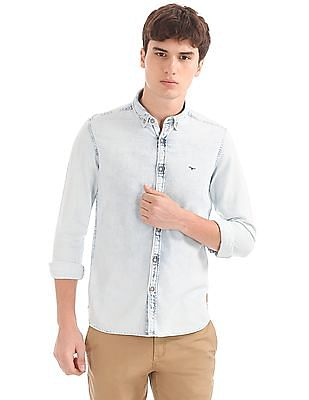 Flying Machine Washed Slim Fit Shirt