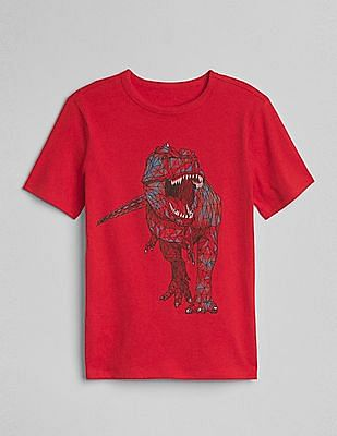 GAP Toddler Boy Red Short Sleeve Graphic T-Shirt