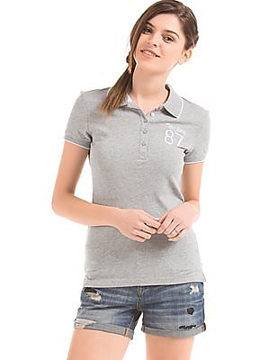 Aeropostale Embroidered Slim Fit Polo Shirt