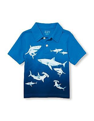 The Children's Place Baby Short Sleeve Printed Polo Shirt
