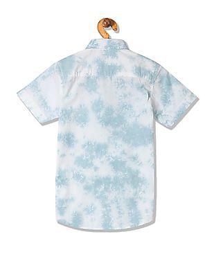 FM Boys Boys Tie Dyed Short Sleeve Shirt