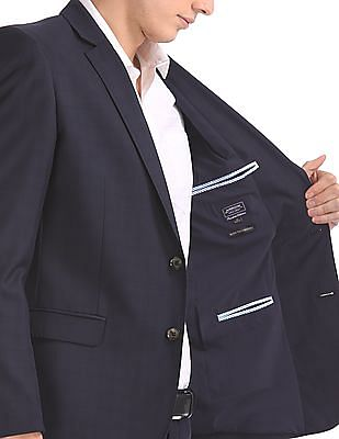 Arrow Slim Fit Checked Suit