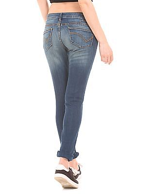 Flying Machine Women Low Rise Skinny Jeans