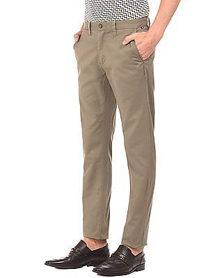 Arrow Sports Slim Fit Oxford Trousers