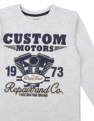 Cherokee Boys Long Sleeve Printed T-Shirt