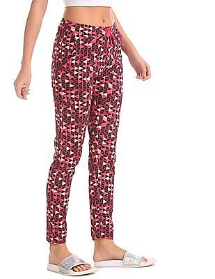 SUGR Pink Allover Print Knit Lounge Pants