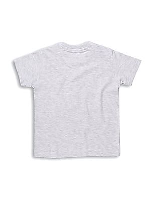 Cherokee Boys Grey Appliqued Round Neck T-Shirt