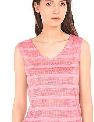 Elle Striped Semi Sheer Top