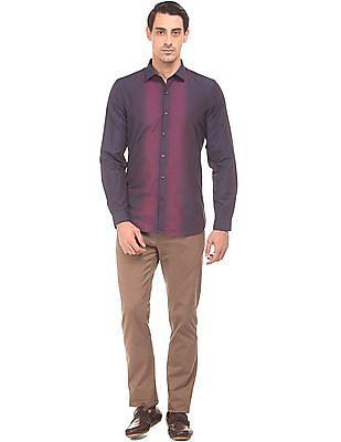 Excalibur Gradient Striped Slim Fit Shirt