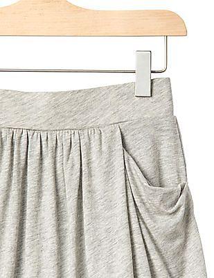 GAP Girls Grey Drapey Pocket Skort