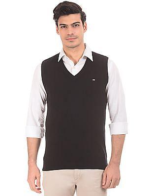 Arrow Sports V-Neck Lambswool Sweater