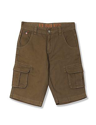 U.S. Polo Assn. Kids Boys Woven Cargo Shorts