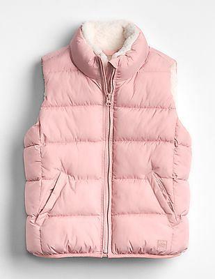 GAP Girls Coldcontrol Max Sherpa Puffer Vest