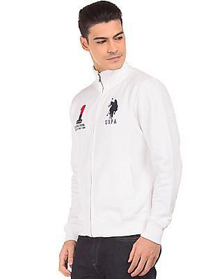 U.S. Polo Assn. High Neck Appliqued Sweat Jacket
