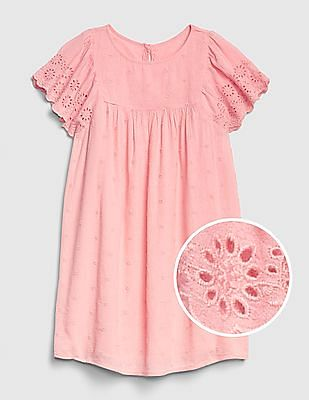 GAP Girls Embroidery Flutter Dress