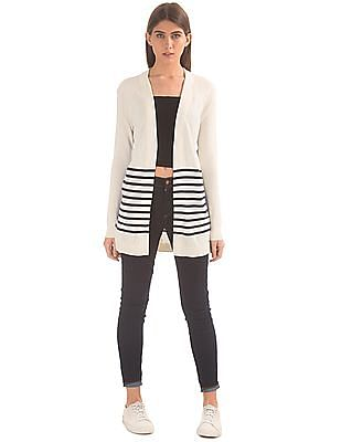 Nautica Striped Knit Shrug