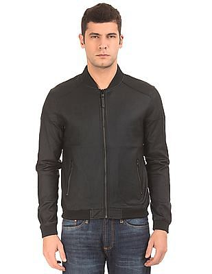 Ed Hardy Panelled Coated Bomber Jacket