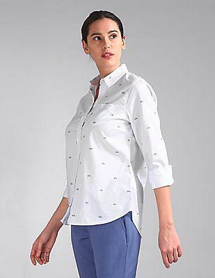 GAP Long Sleeve Printed Shirt