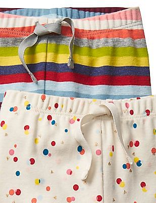 GAP Baby Assorted Bright Stripe Knit Pants - Pack of 2
