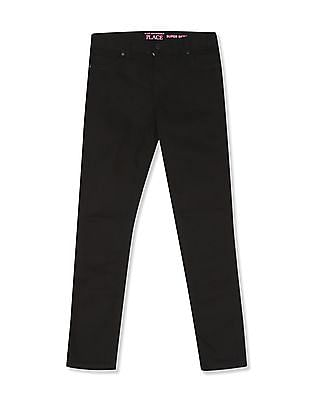 The Children's Place Black Girls Super Skinny Mid Rise Jeans