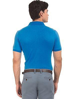 Arrow Sports Short Sleeve Tonal Print Polo Shirt