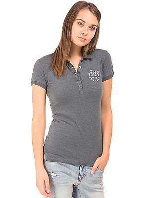 Aeropostale Solid Regular Fit Polo Shirt