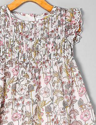 GAP Toddler Girl Floral Print Flared Dress