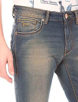 Flying Machine Slim Tapered Stone Wash Jeans