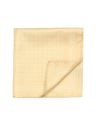 Arrow Geometric Print Woven Pocket Square