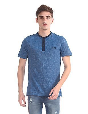 Cherokee Patterned Henley T-Shirt