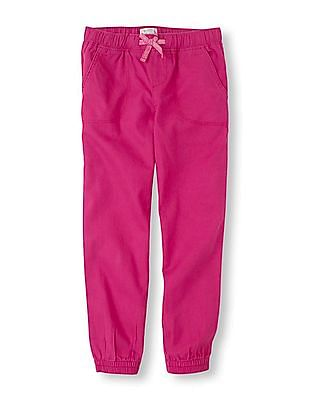 The Children's Place Girls Solid Woven Joggers