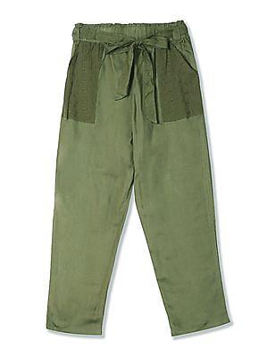Cherokee Girls Elasticized Waist Solid Pants