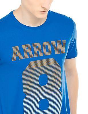 Arrow Sports Velvet Print Regular Fit T-Shirt