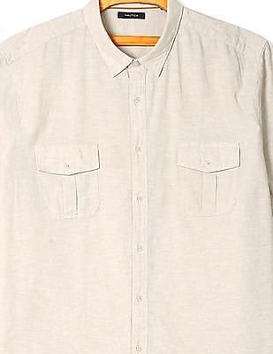 Nautica Short Sleeve Linen Shirt