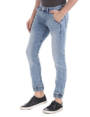 Flying Machine Jogger Fit Stone Wash Jeans