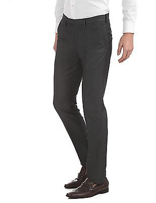 USPA Tailored Slim Fit Patterned Trousers