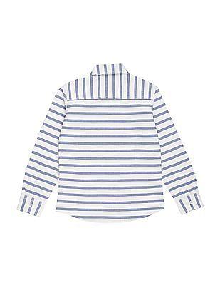 FM Boys Boys Striped Slim Fit Shirt