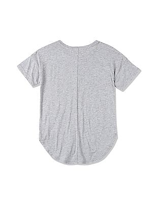 GAP Girls Grey Graphic Short Sleeve T-Shirt