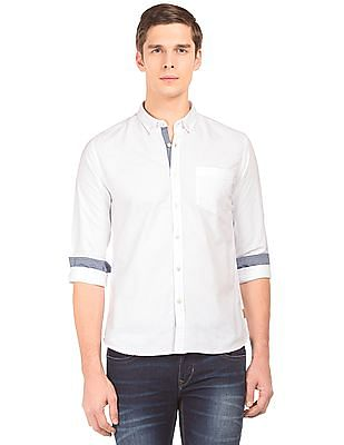 Flying Machine Button Down Collar Slim Fit Shirt