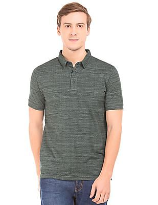 Roots by Ruggers Melange Regular Fit Polo Shirt
