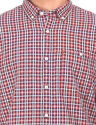 Ruggers Button Down Collar Check Over Shirt