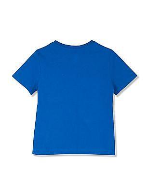 GAP Baby Blue Graphic Print T-Shirt
