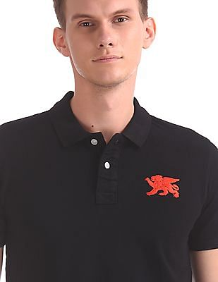 Flying Machine Regular Fit Short Sleeve Polo Shirt