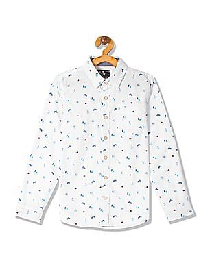 FM Boys Boys Long Sleeve Printed Shirt